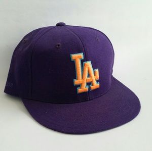 Neon Los Angeles Dodgers cap Fitted hat mlb